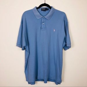 Polo by Ralph Lauren Small Pony Blue Polo Size XL